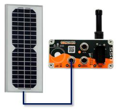 bateria interna solar panel 12v